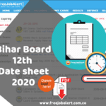 Bihar 12th Time Table 2020 BSEB Intermediate Exam Dates