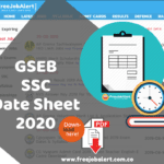 Gujarat Board SSC Time Table 2020 GSEB 10th Time Table