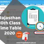 RBSE 10th board exam time table 2020 raj board  10th time table