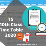 TS SSC Time Table 2020 Telangana 10th Class Time Table