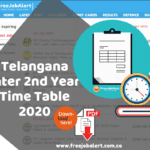 TS Inter 2nd Year Exam Time Table 2020 Download @ bie.telangana.gov.in