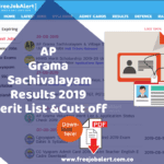 AP Grama Sachivalayam Results 2019 Qualifying,Cutoff Marks & Merit list