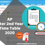 AP Inter 2nd Year Time Table 2020 Manabadi intermediate exam time table