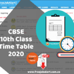 CBSE Class 10 Time Table 2020 CBSE 10th Date Sheet