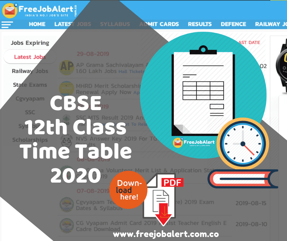 CBSE 12th Date Sheet 2020, CBSE Board 12th Date Sheet 2020, CBSE Board 12th Class Exam Time Table, CBSE Class 12 Date Sheet, cbse 12th exam date 2020, cbse date sheet 2020 class 12,
