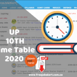 UP Board Class 10 Time Table 2020 UPMSP 10th Date Sheet